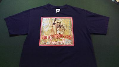 2009 Brittney Spears Concert T Shirt M Circus Tour