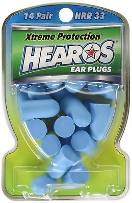 New Hearos Ear Plugs Xtreme Protection Series - 14 Pairs