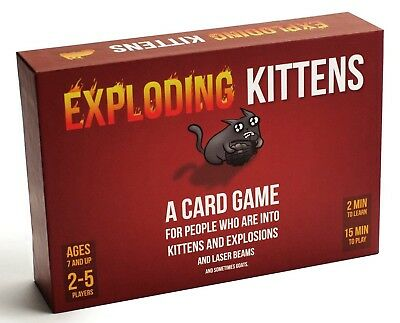 NEW Exploding Kittens Original Edition Card Game Strategy Party Game AUS