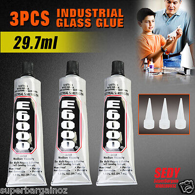 3x E-6000® Glue with Tip Adhesive 29.7ml Pendant Jewellery Art Craft
