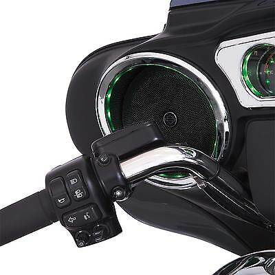Ciro Chrome LED Lighted Front Speaker Accents for 2014-2016 Harley Touring