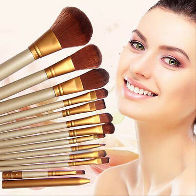 12x Pro Makeup Brushes Set Powder Foundation Eyeshadow Eyeliner Lip Brush Tool