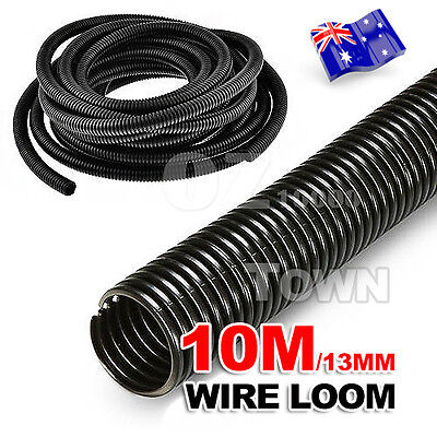 10M Management Convoluted Tubing Wire Split Loom Conduit Cable 10x13MM AU STOCK