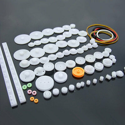 75 kinds of plastic gear package motor gear gearbox robot model accessories DIY
