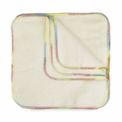 Bumkins Reusable Flannel Wipes, 12-Count, Natural (FW12) (Free Shipping) CXX