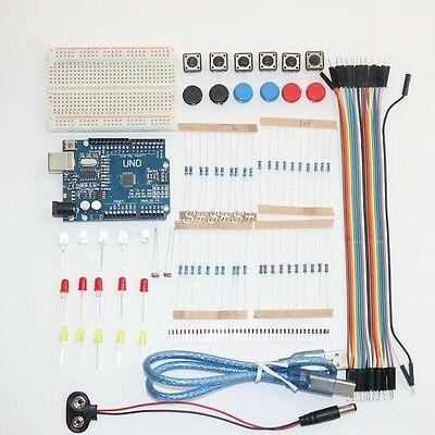 ARDUINO UNO R3 + Starter kit  91 Composants Electroniques +  Cable Usb France