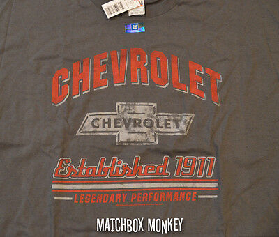 Chevy Chevrolet Established 1911 T-Shirt Officially Licensed Americana SS GM NWT