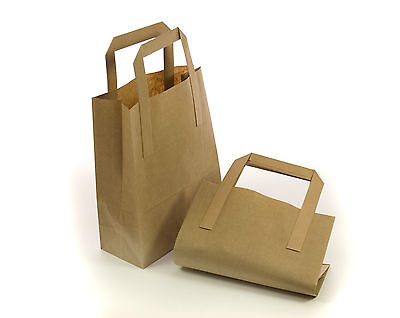 Brown Kraft SOS Paper Carrier Bags **choose size and quantity**