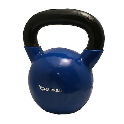 16KG Vinyl Kettlebell Strength Training Home Gym Fitness Kettlebells