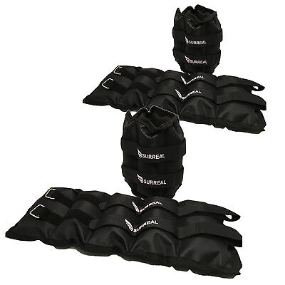Set of 2 Pairs 5-10KG Ankle Wrist Weights Running Gym Strength Training