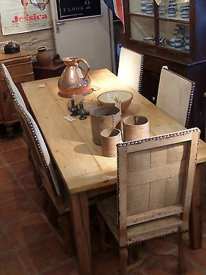 large vintage waxed pine dining table