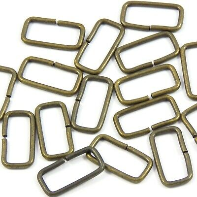 20mm 3/4in. Brass Rectangle Metal Loop Ring for Straps Webbing Bag Making (M001)
