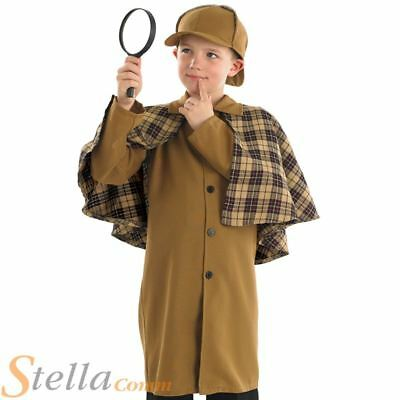 Boys Sherlock Holmes Victorian Detective Fancy Dress Costume Book Week Outfit