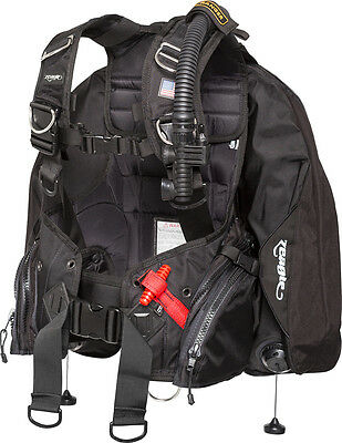 Zeagle Ranger Scuba BCD with Ripcord Weight System, Black, LARGE