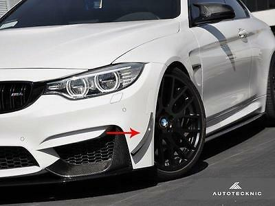 New Real Carbon Fiber Front Bumper Canards For 15 Up Bmw M3 M4