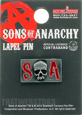 Sons of Anarchy Metal SOA Logo Lapel Pin ~ Officially Licensed ~ NEW ~ Skull