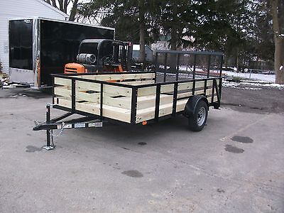 "Brand New 82""x12' 27"" Wooded High Side 3 Board Utility Trailer Tmt Toledo Built"