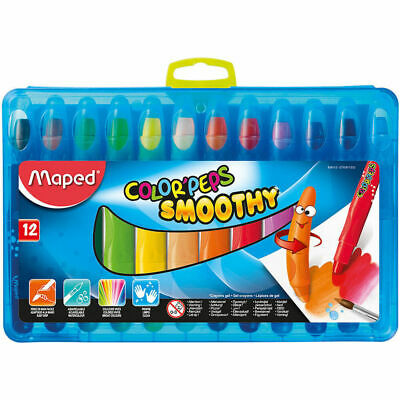 12 Maped Color'Peps Smoothy Colouring Drawing Paint Gel Watercolour Crayons Kids