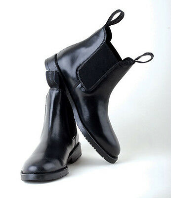 LADIES REAL LEATHER FLAT PULL ON ANKLE CHELSEA BOOTS Sizes 5 - 12uk Black or Brn