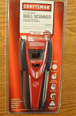 CRAFTSMAN 1 1/2 in DEEP WALL SCANNER w AC WIRE WARNING 49066 FAST SHIP!