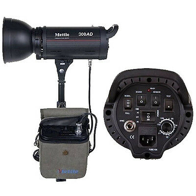 300W Dual Power Flash Strobe Light w/ Battery Pack Photography Lighting Outdoor