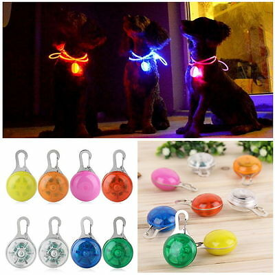 New colors Pet Dog Cat Puppy LED Flashing Collar Safety Night Light Pendant