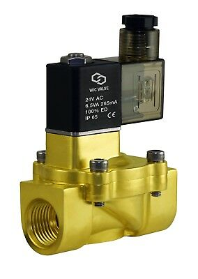 "1/2"" Inch Brass Electric Air Water Solenoid Valve Low Power Consumption 24V AC"