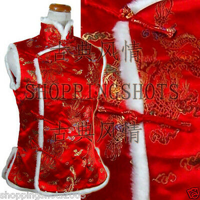 Chinese clothing vest top Dragon and Phoenix shirts blouse coat 091306 in winter