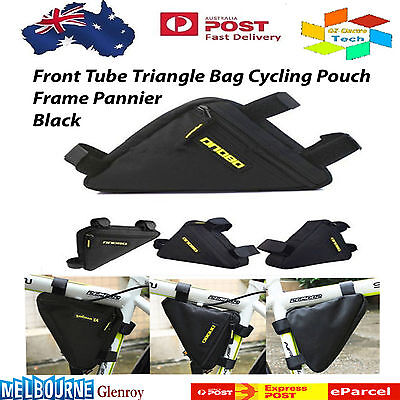 Front Tube Black Triangle Bag Cycling Pouch Bike Bicycle Release Frame Pannier