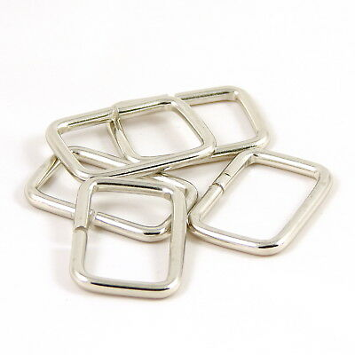 30mm 1 1/4 in Chrome :: Heavy :: Rectangle Ring Strap Loop for Bag Making (M032)