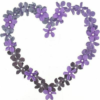 Hobbycraft Purple Mini Paper Flowers Craft Embellishment Card Making 40 Pack