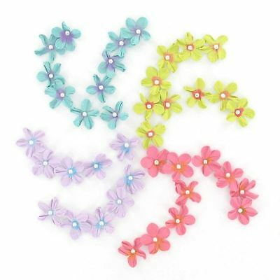 Hobbycraft Assorted Mini Paper Flowers Craft Embellishment Card Making 40 Pack
