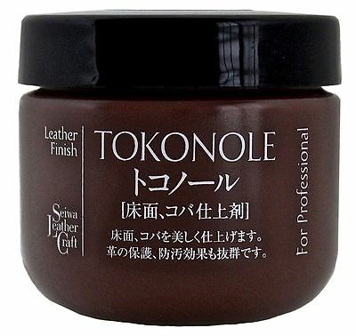 Seiwa Tokonole Leathercraft Tragacanth, Leather Burnishing Gum 120ml, Brown