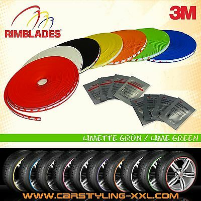 NEW - Rimblades with 3M glue - colour: green - Premium rim protection and stylin