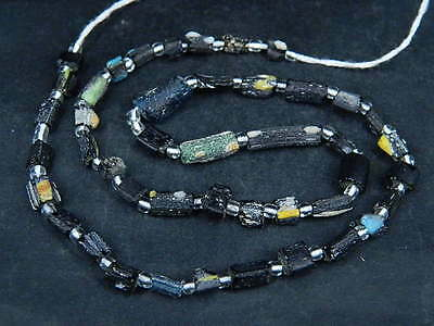 Ancient Fragment Glass Beads Strand Roman 200 BC    #ML1438