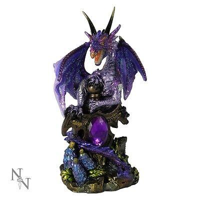 Nemesis Now Galeru Dragon Figure 13cm Purple Mythical Ornament Gothic Statue