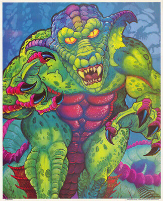 Small Poster:  Fantasy :  Cartoonish Dragon     Free Shipping ! # 29-609  Rc15 F