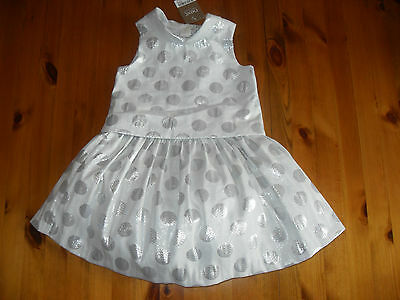 Next Baby Girls Special Occasion Skirt & Top, White/Silver, Age 18-24 mths, BNWT