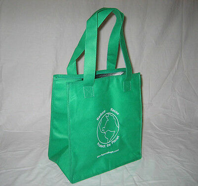 Insulated Reusable Grocery Bag- Our best seller! 2 pack GREEN