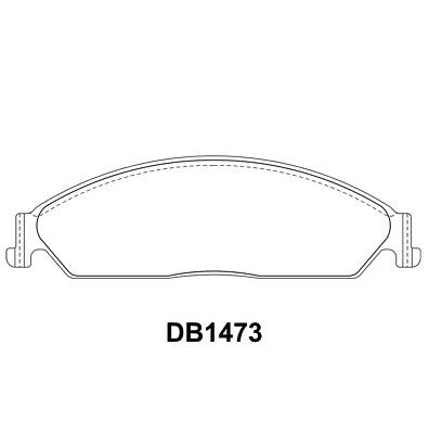 Disc Brake Pads Front DB1473 Suits Ford Falcon BA XT BF XR Fairlane BA BAII BF