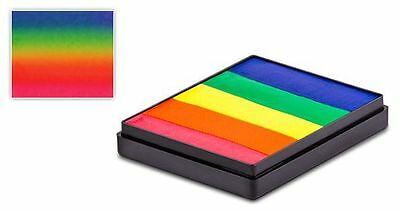 Global Rainbow Cakes 50g - NEON Makeup Fancy Dress Party Accessories