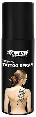 Global Temporary Tattoo Spray - Black Makeup Fancy Dress Party Accessories