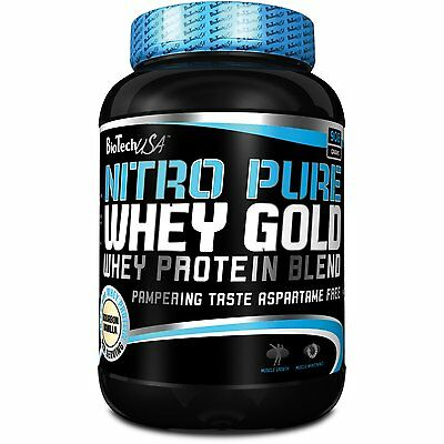 Nitro Pure Whey Gold 908g Biotech USA Proteine 100 Bodybuilding Isolate BCAA