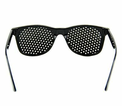 Unisex Eyesight Improve Pinhole Glasses Stenopeic Eyeglasses Sunglasses Black