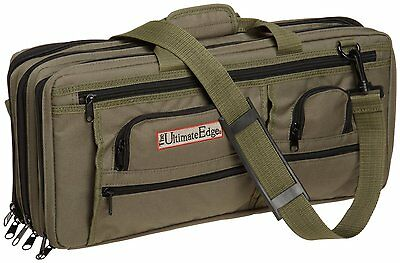 The Ultimate Edge 2001-EDOL Deluxe Chef Knife Case, Olive 18-Double stitched