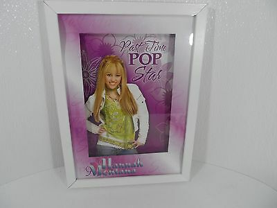 Disney Channel Hannah Montana Miley Cyrus 3-D Framed Art Work Shadow Box -VGC