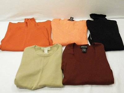 5 Pc Lot Women's S Small XS Lightweight Sweater Shell Black Salmon Tan Maroon