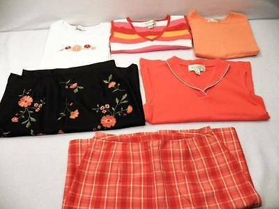 6 Pc Lot Women's Casual Corner Sz 2 Small Spring Summer Shirt Skirt Outfit Sets