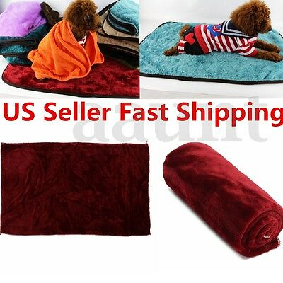 Soft Warm Pet Dog Cat Fleece Blanket Puppy Bed Mat Pad House Cushion Cover