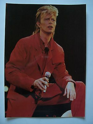 David Bowie - Poster , Affichette  ( 24 x 34 cm ; Tirage Photo , couleur )